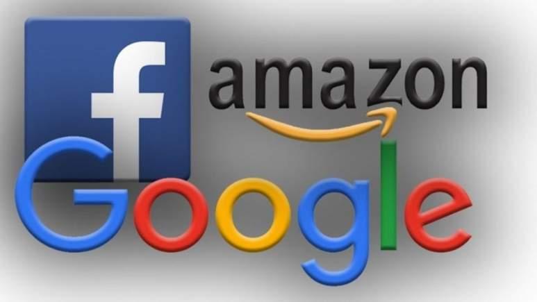 Logos de Amazon, Facebook y Google